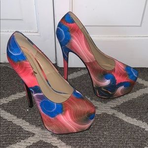Alba Shoes - Alba multi-colored tie-dye marble heels size 6.5